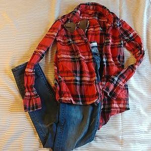 XS plaid shirt